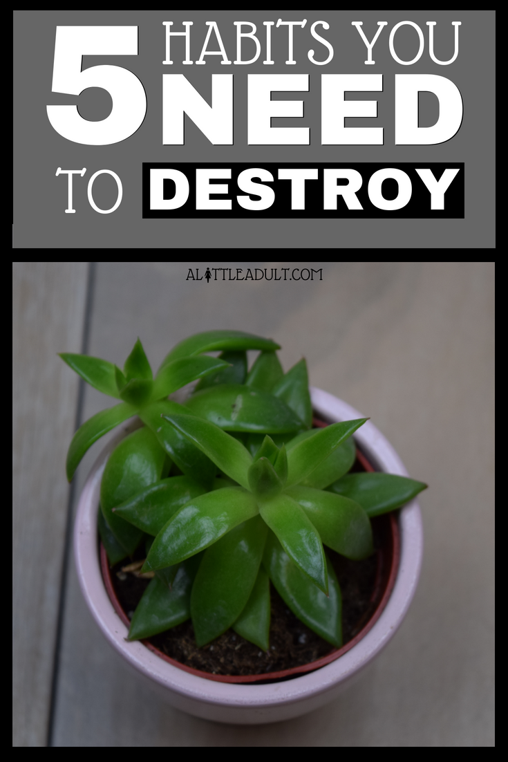 Pinterest - 5 Habits You Need To Destroy - Work Life Balance