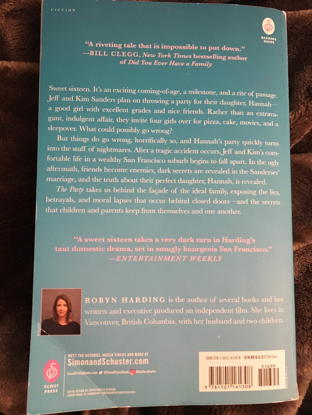 The Party by Robyn Harding (back cover)