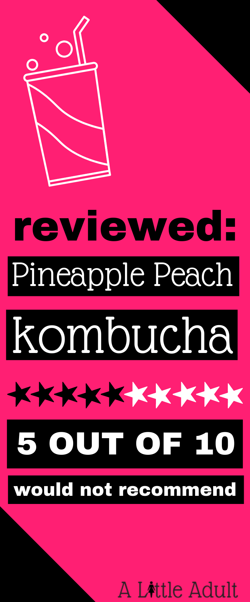 Pineapple Peach Kombucha Review - Pinterest
